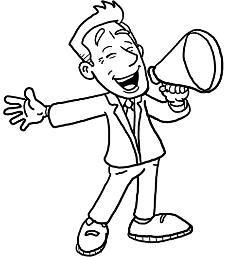 clipart man with megaphone - photo #18
