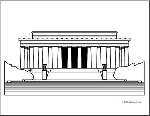 Memorial Clipart For Marker Clipart Panda Free Clipart Lincoln Memorial Coloring Page