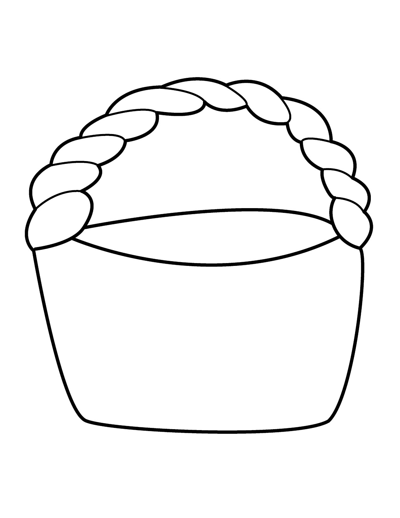 Flower Basket Line Drawing : Apple basket clipart panda free images