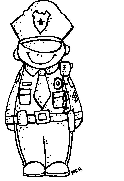 Police Officer Clipart Black And White | Clipart Panda ...
