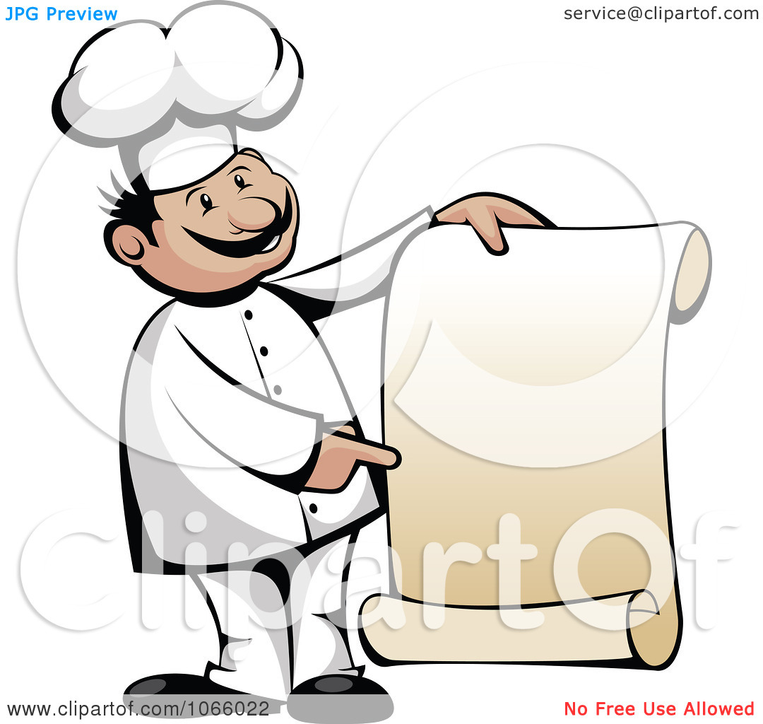 menu-clipart-Clipart-Chef-Holding-A-Scroll-Menu-Royalty-Free-Vector ...