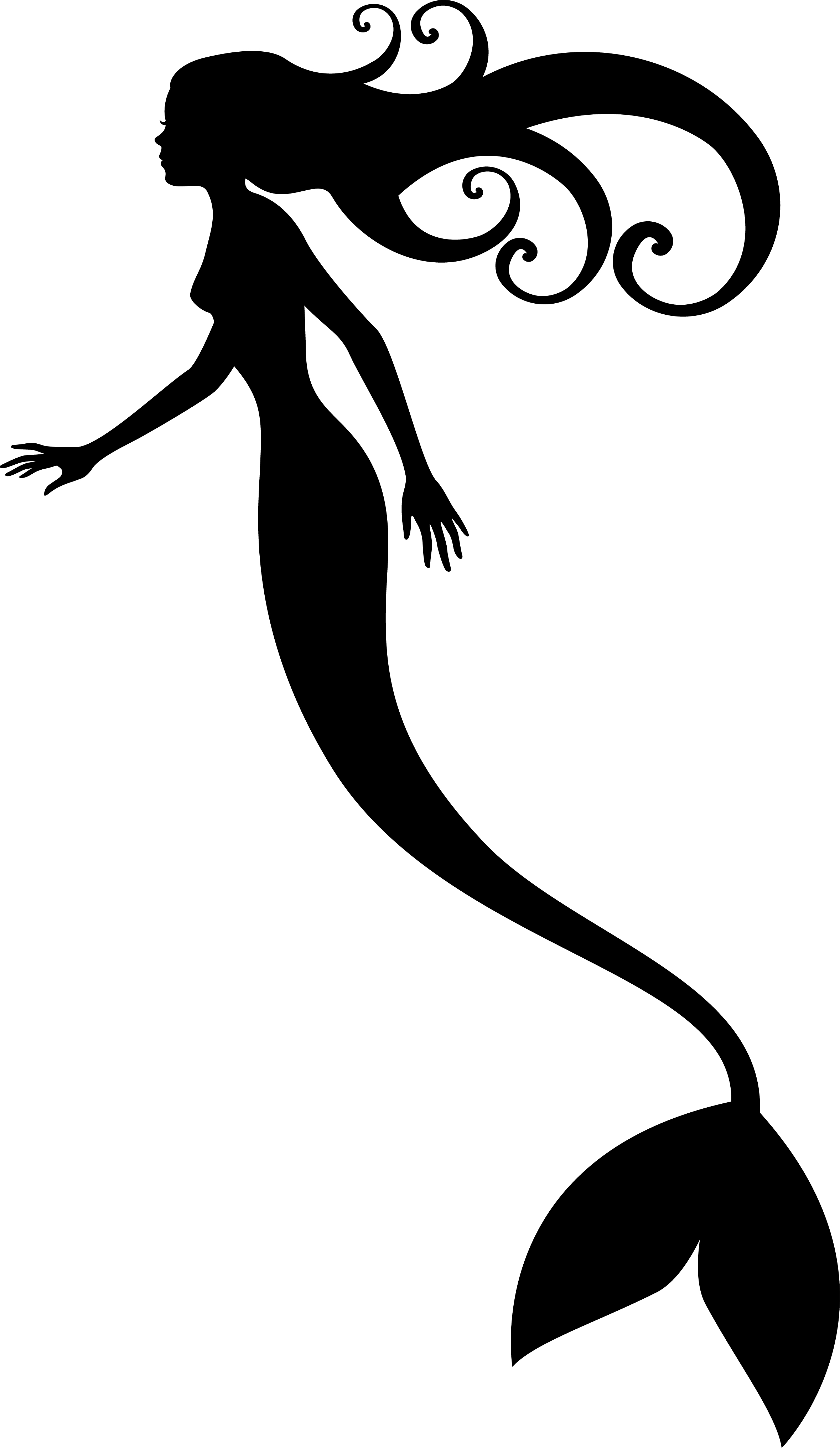 Mermaid Tail Silhouette | Clipart Panda - Free Clipart Images