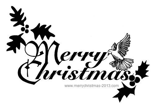 Merry Christmas Images Black And White.Merry Christmas Clipart Black And White Clipart Panda