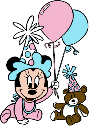 Minnie mouse birthday. Clipart panda free images