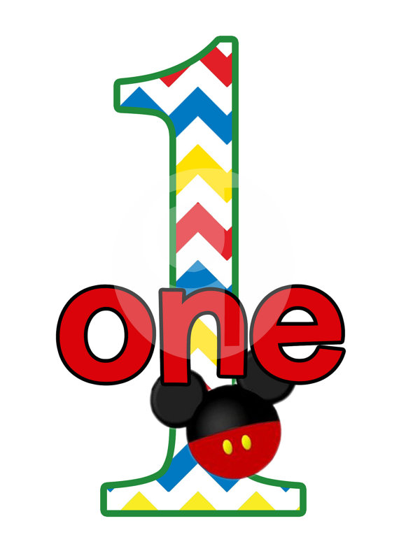 Baby Mickey Mouse 1st Birthday Clip Art | Clipart Panda - Free ...