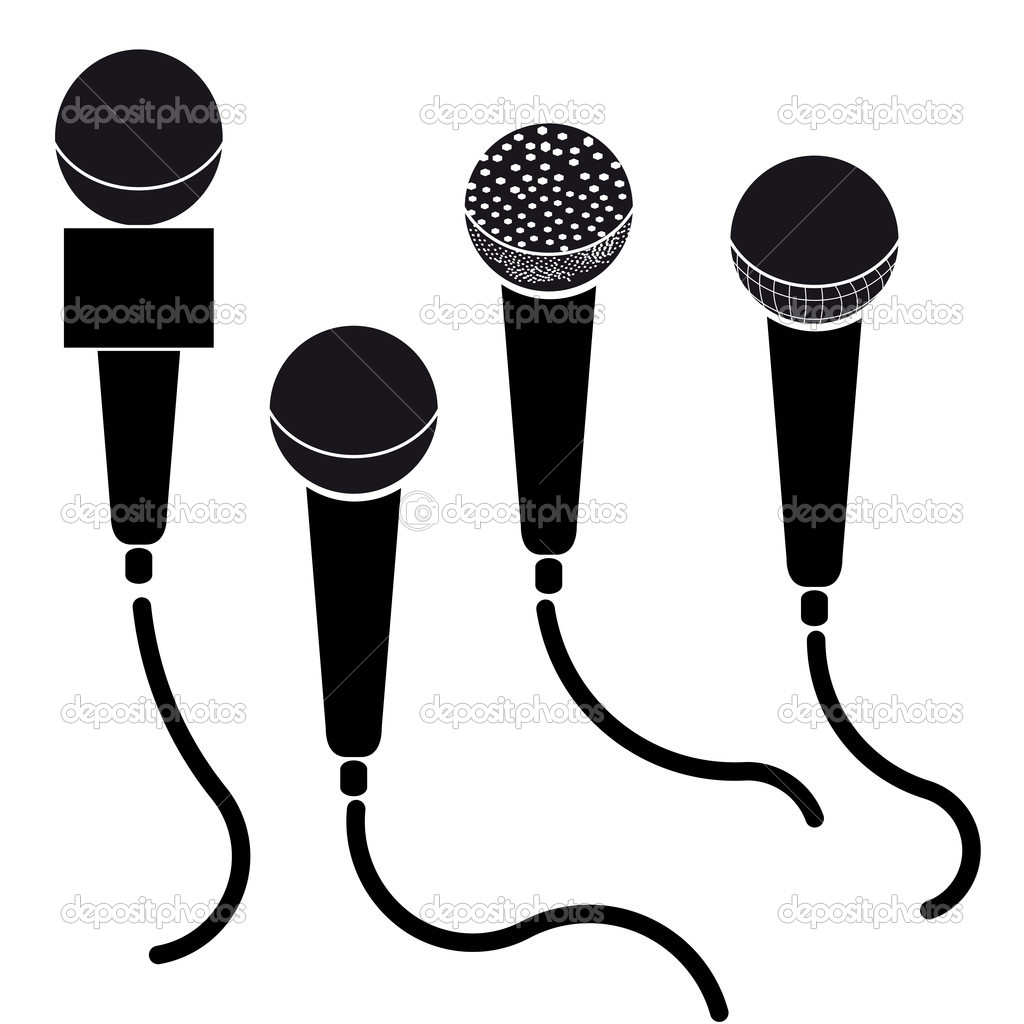 Microphone Black And White | Clipart Panda - Free Clipart ...