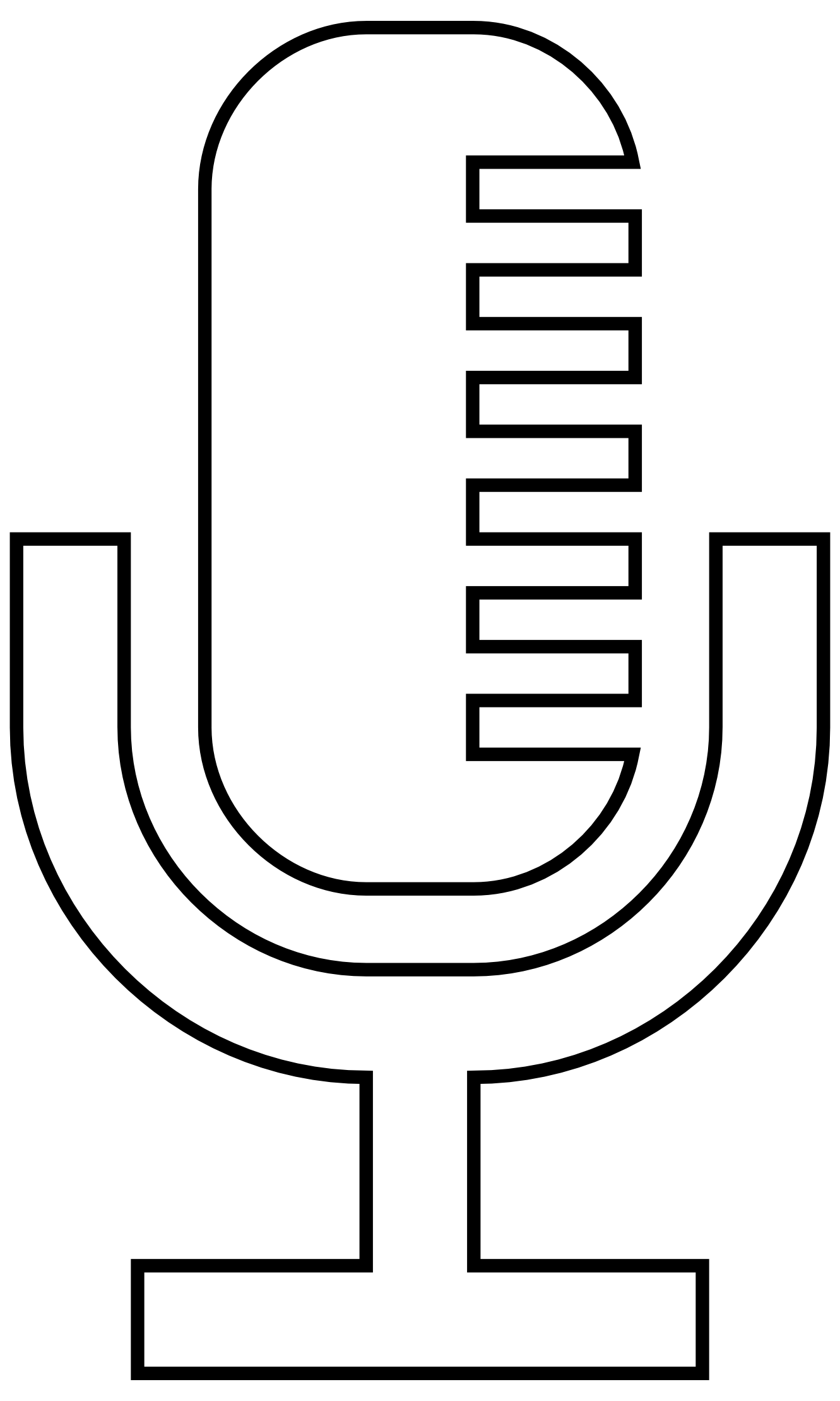 Line Drawing Icons : Microphone icon vector clipart panda free images