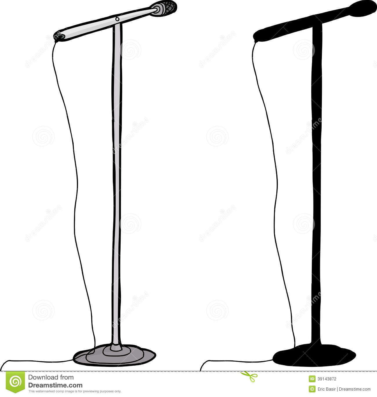 Isolated Microphone Stand | Clipart Panda - Free Clipart ...