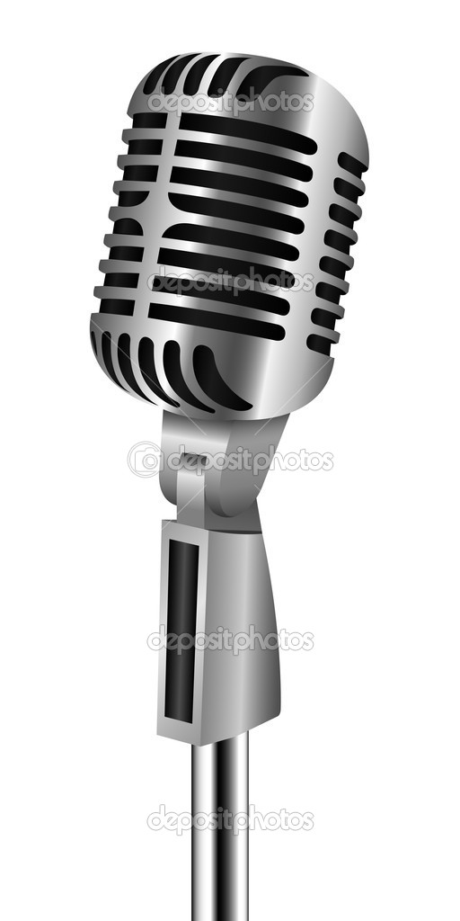 Retro Microphone On Stand | Clipart Panda - Free Clipart ... Retro Microphone With Stand