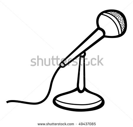 Microphone With Cord Illustration | Clipart Panda - Free ...