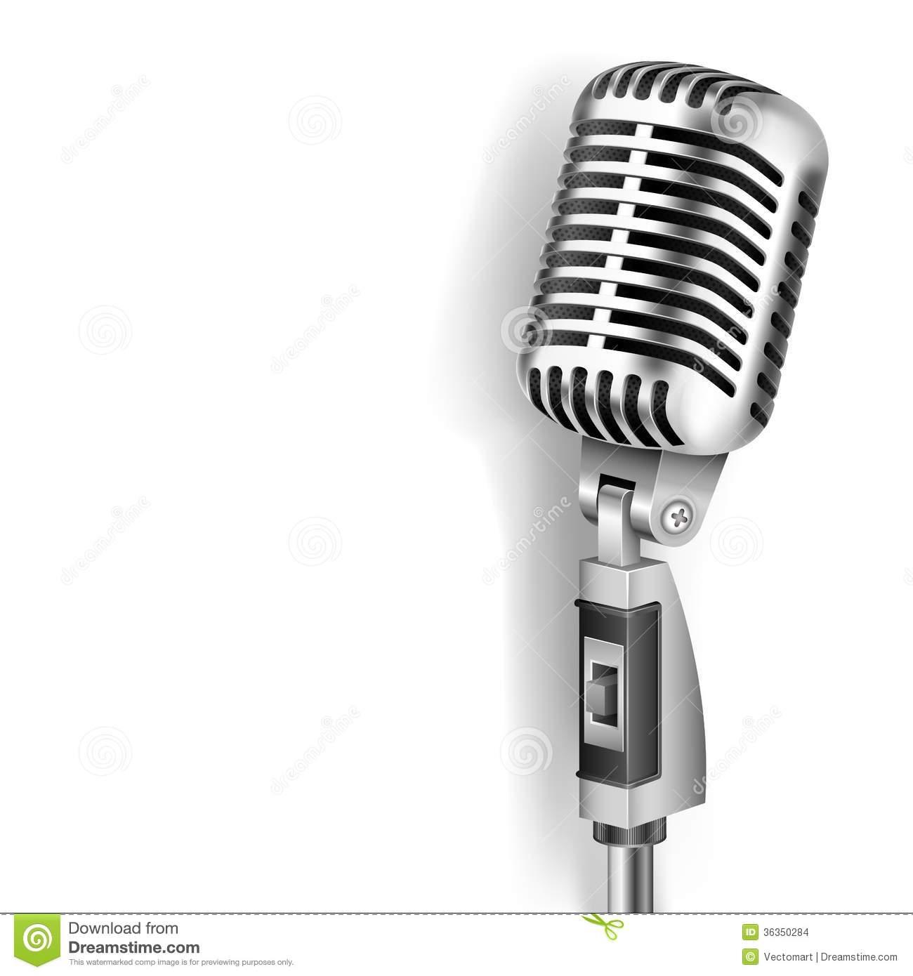 vintage microphone drawings