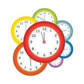 midday : Colorful clocks | Clipart Panda - Free Clipart Images