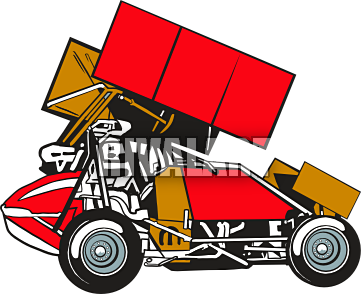 Sprint Car Racing Clipart - More information