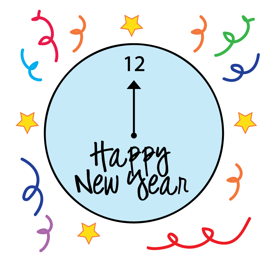 New Years Clock Clipart | Clipart Panda - Free Clipart Images