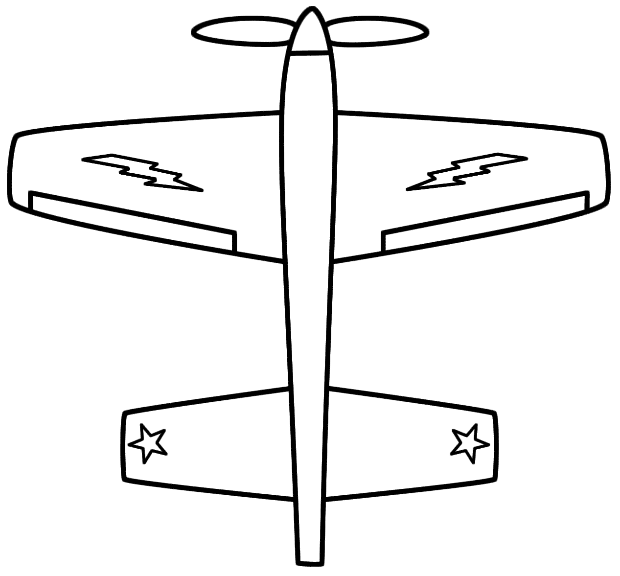 This airplane coloring page is clipart panda free for Army jet coloring pages