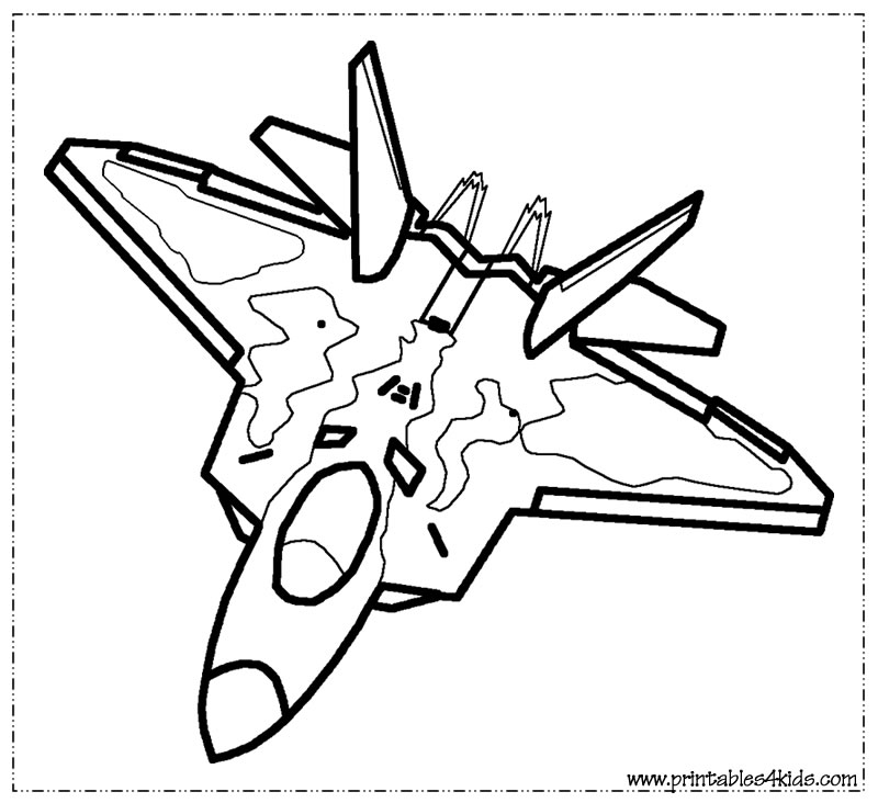 the gallery for gt army jet coloring pages