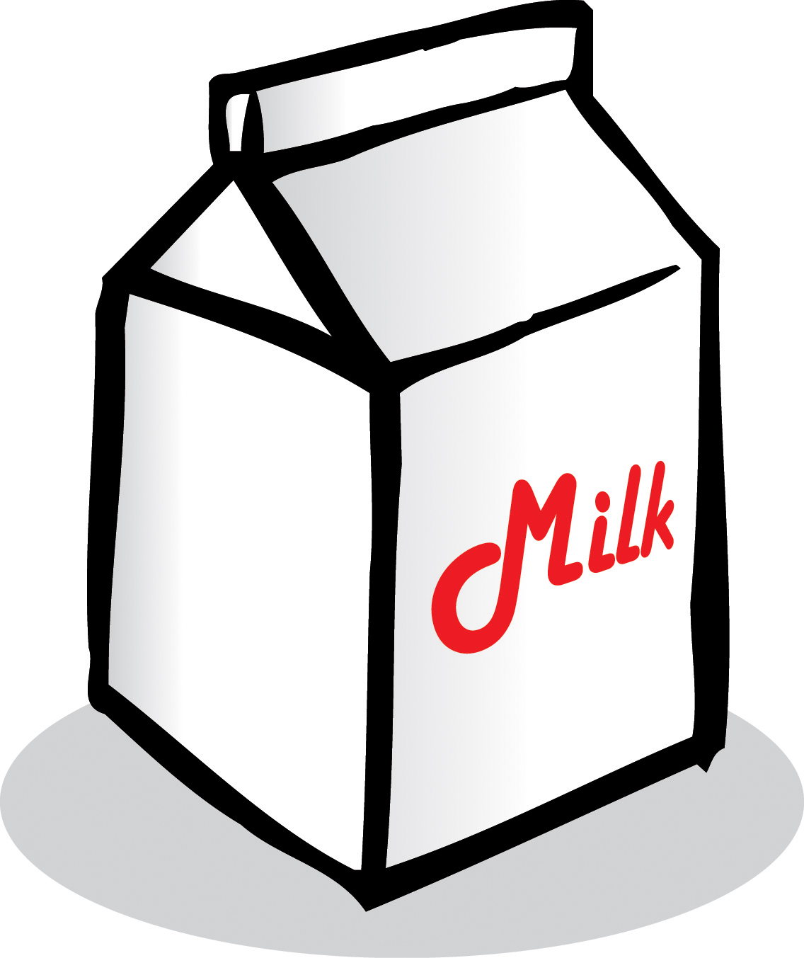 Milk Carton Clipart Black And White | Clipart Panda - Free ...