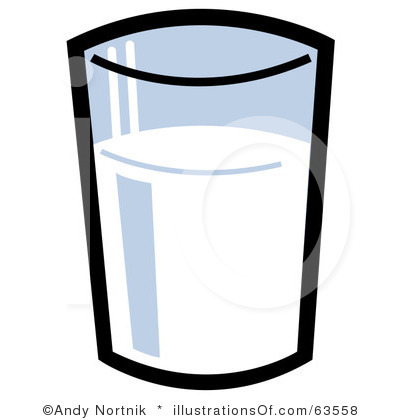 Glass Of Milk Clipart Black And White | Clipart Panda - Free Clipart ...