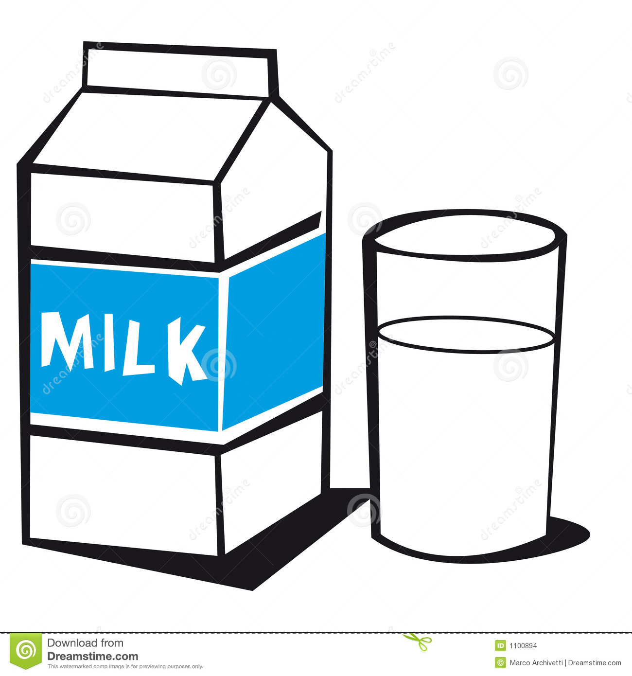 clipart of a glass of milk - photo #5