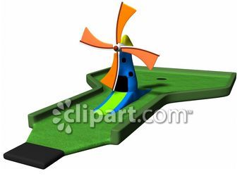 Mini golf windmill clipart