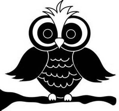 Owl cartoon black and white