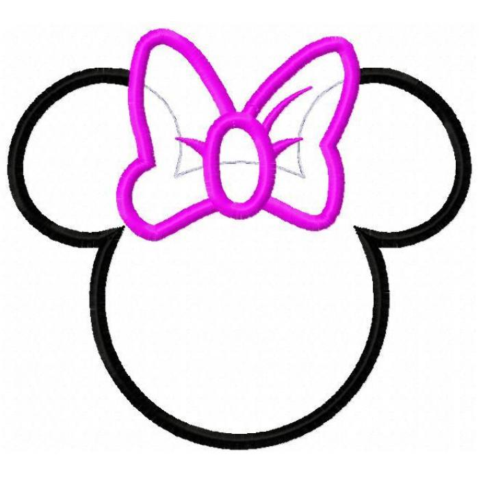 minnie mouse cut out template