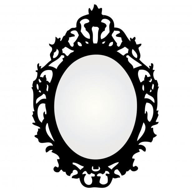 Mirror Clipart Black And White | Clipart Panda - Free