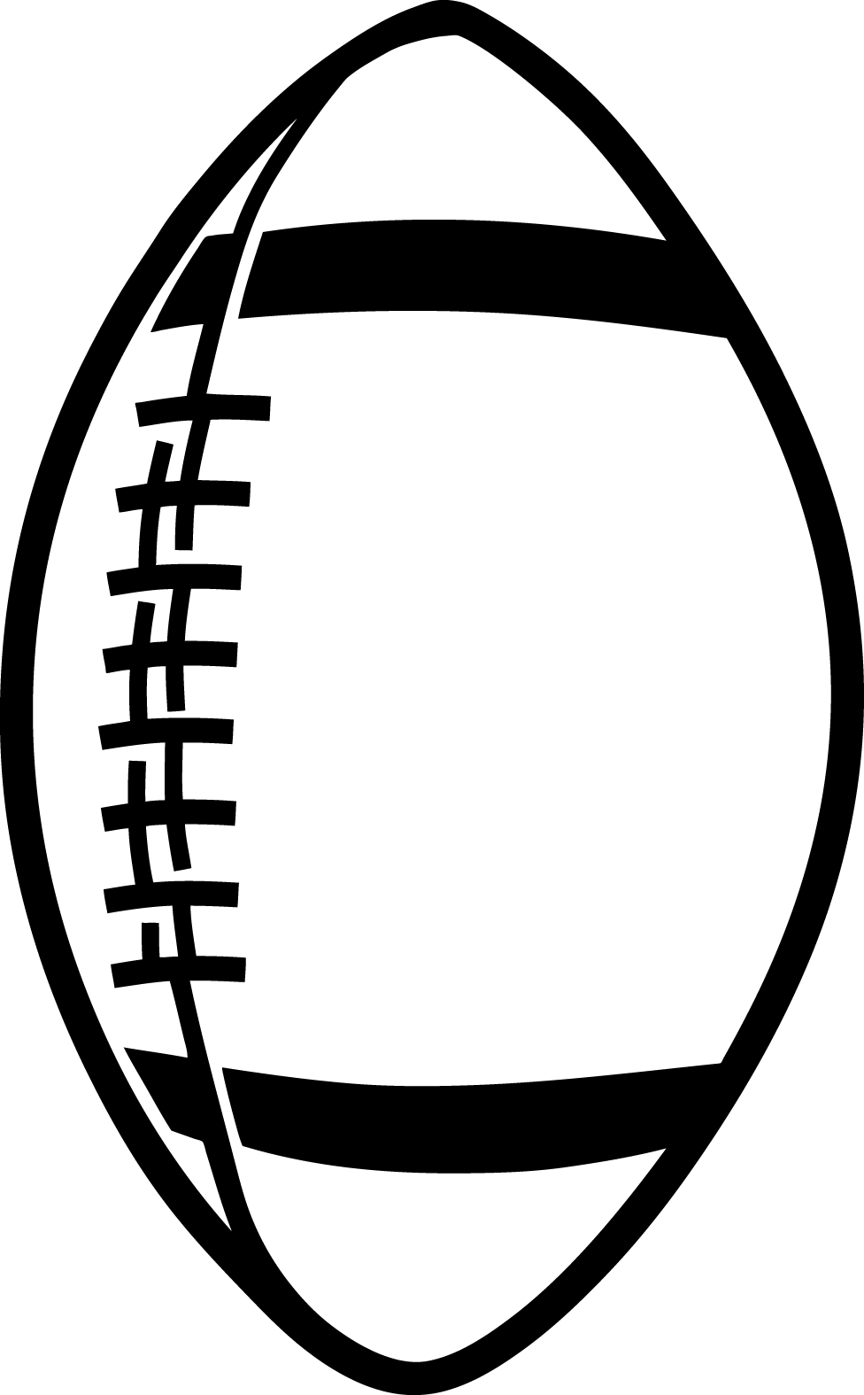 outline of a football