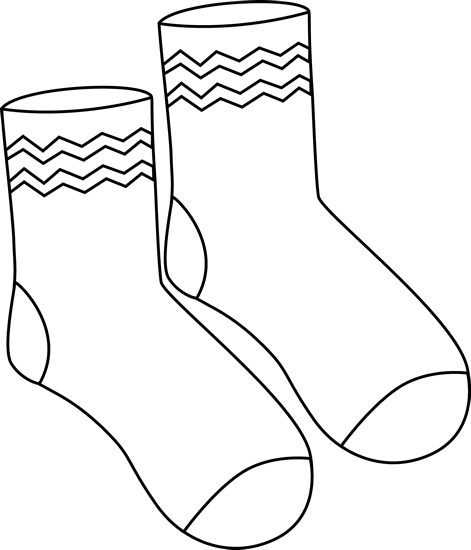 mitten-clipart-black-and-white-black-white-pair-of-funky-socks.png