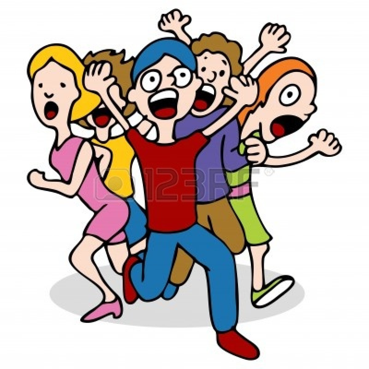 Crowd Of People Running Clipart | Clipart Panda - Free ...