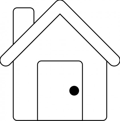 House Line Drawing Clip Art