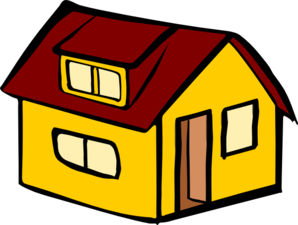 Yellow Detached House clip art Clipart Panda Free Clipart Images