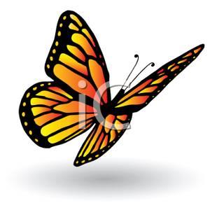 Image Gallery monarch flying cartoon