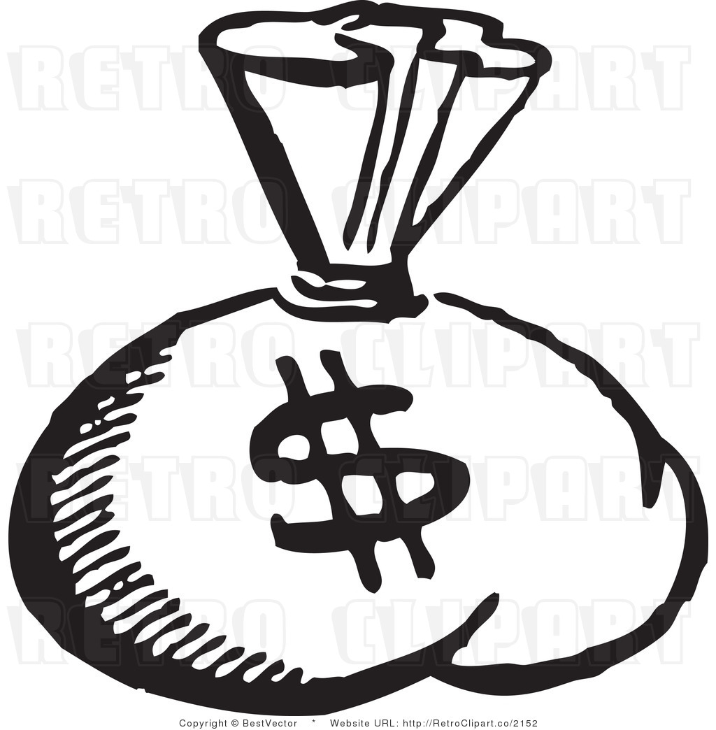 Money black. Clipart and white panda