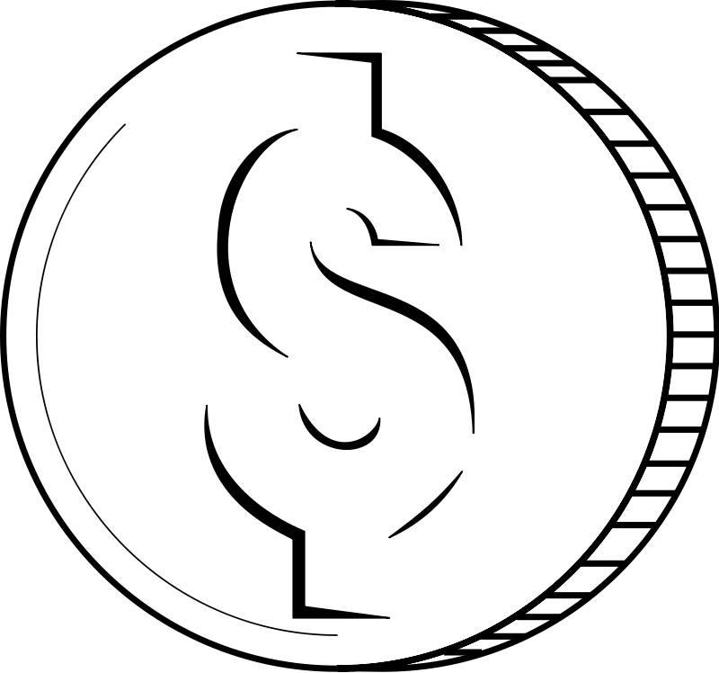 Coins Clip Art Black And White | Clipart Panda - Free ...