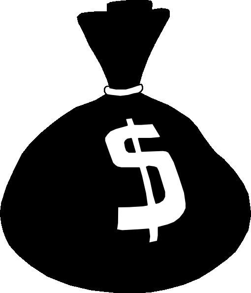 Money Bag Clipart Black And White | Clipart Panda - Free ...