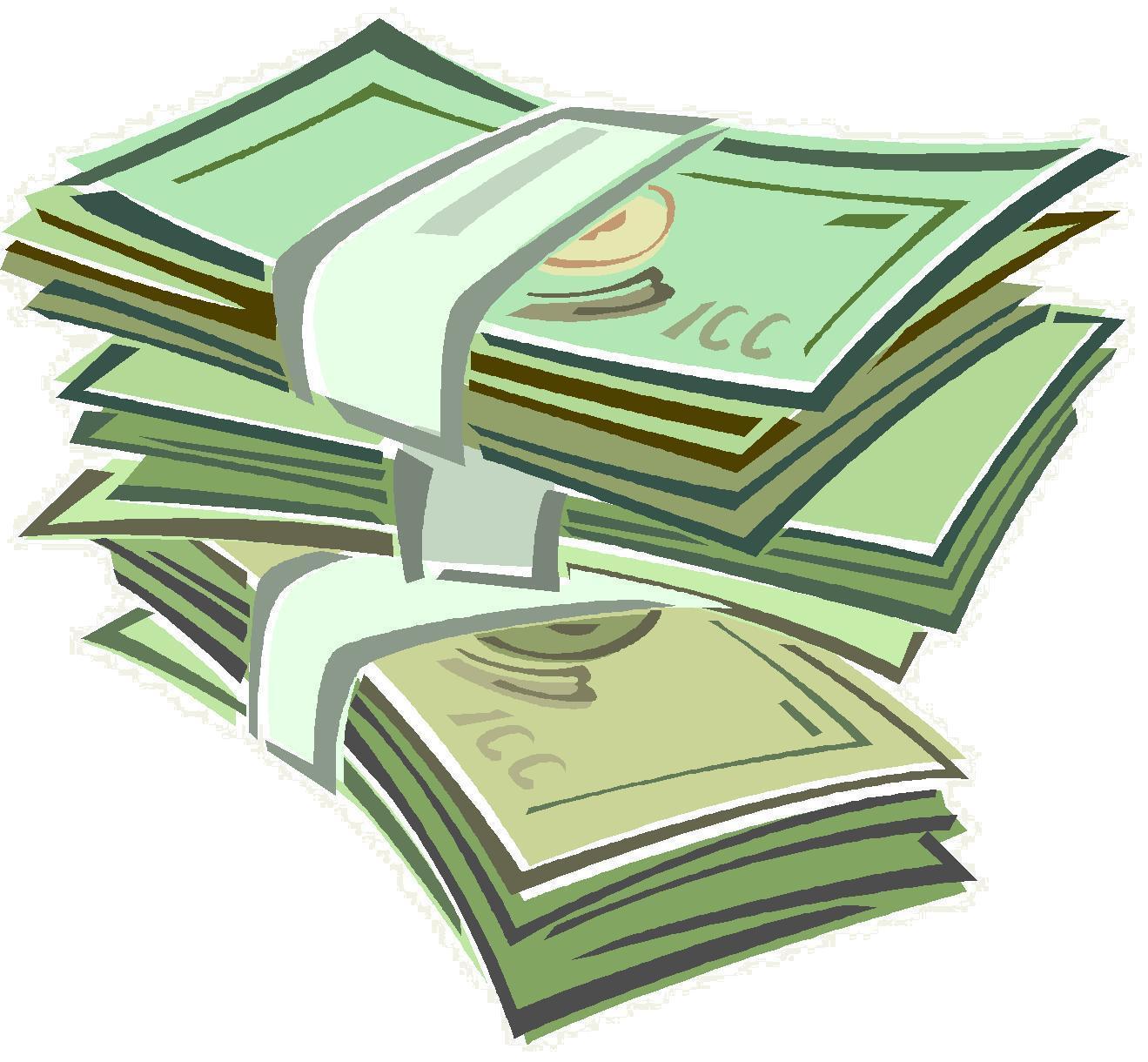 pile of money clipart - photo #43