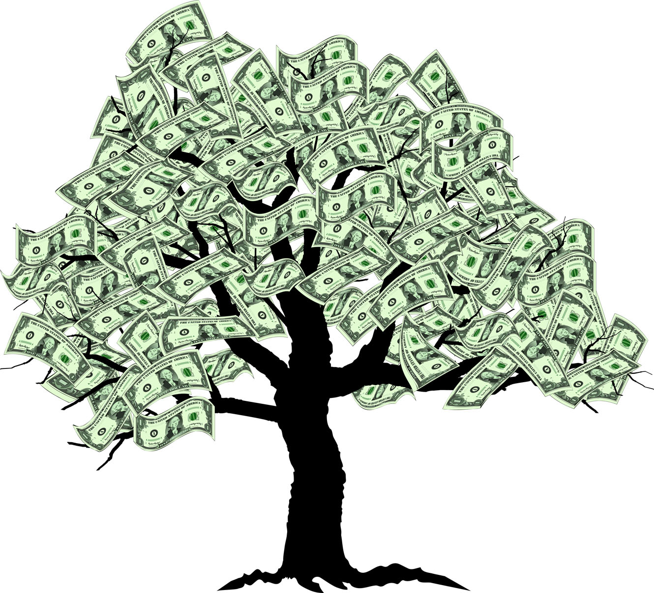 Money real. Trees clipart panda free