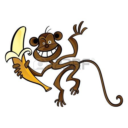 Monkey With Banana Cartoon | Clipart Panda - Free Clipart Images