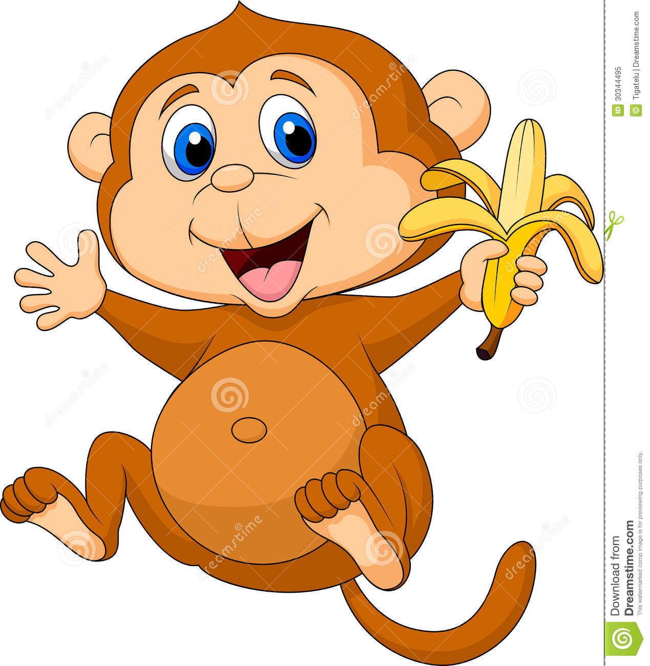 Baby Monkey With Banana Clip Art | Clipart Panda - Free ...