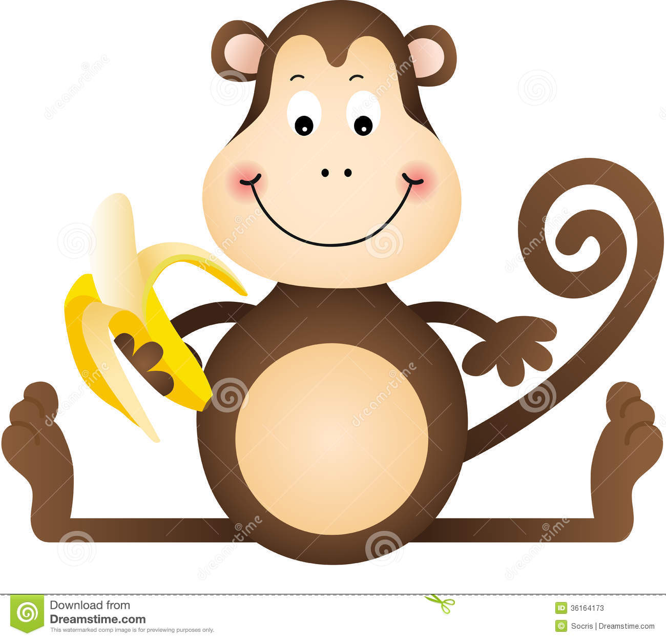 monkey with banana clip art clipart panda free clipart images