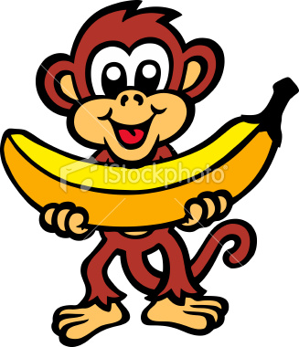 Monkey Banana Cartoon | Clipart Panda - Free Clipart Images