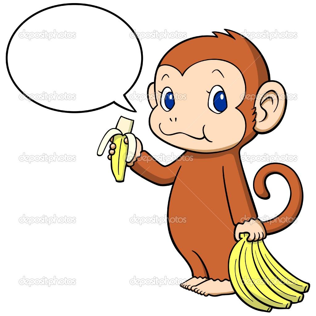 Cartoon Monkey with Banana - Bing - 189.2KB