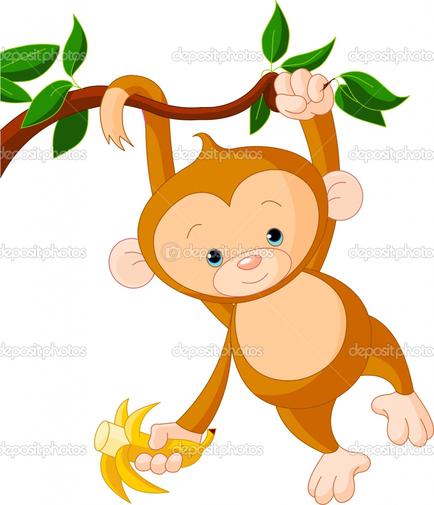 Baby Monkey With Banana Clip Art | Clipart Panda - Free Clipart Images