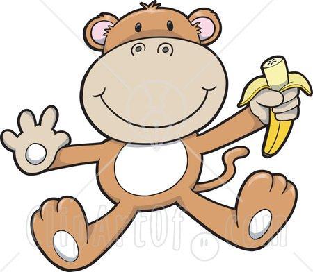baby monkey with banana clip art clipart panda free clipart images rh clipartpanda com monkey clip art black and white monkey clipart images