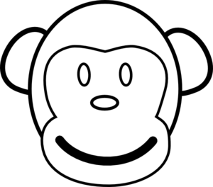 monkey%20clip%20art%20black%20and%20white