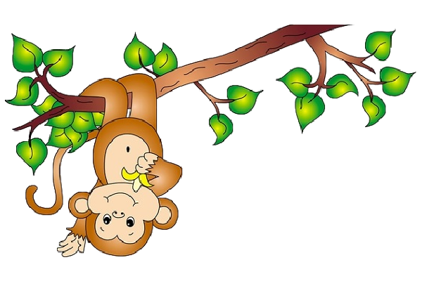 clipart monkey hanging from tree - photo #18
