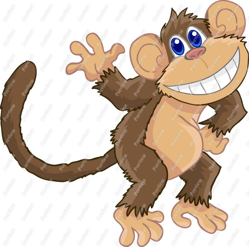Cartoon monkey drawing