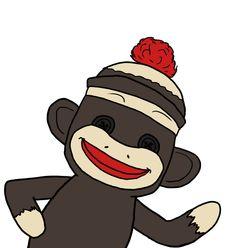 free sock monkey clip art clipart panda free clipart images rh clipartpanda com sock monkey clip art pink sock monkey clip art free
