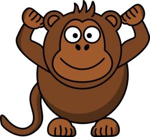 Monkey clip art hanging from tree clipart panda free clipart